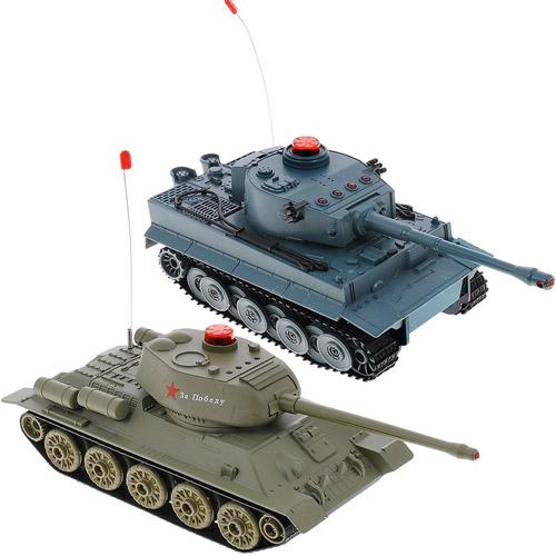 Радиоуправляемый Танковый бой 1:32 Т-34 vs. Tiger I (22 см, 2.4Ghz)