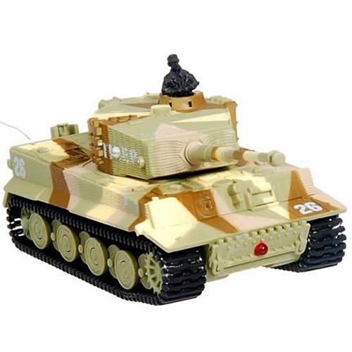 Камуфляж песочный Радиоуправляемый Мини-танк Tiger I (9 см)