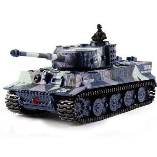 Камуфляж синий Радиоуправляемый Мини-танк Tiger I (9 см)