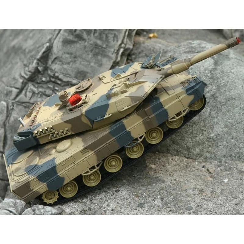 Большой Радиоуправляемый Танковый бой 1:24  Leopard 2A5 vs. Tiger I (2 танка, 33 см)
