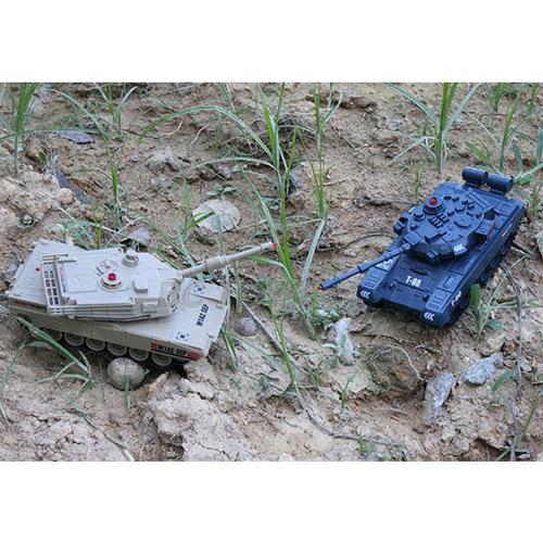 Радиоуправляемый танковый бой Abrams M1A2 vs. Т-90 (2 танка 16 см, 1:48)