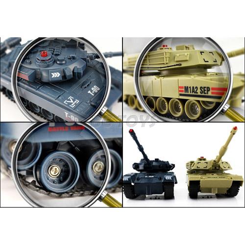 Радиоуправляемый танковый бой 1:48  Abrams M1A2 vs. Т-90 - Фото