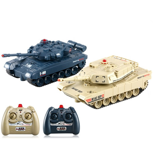 Радиоуправляемый танковый бой 1:48  Abrams M1A2 vs. Т-90