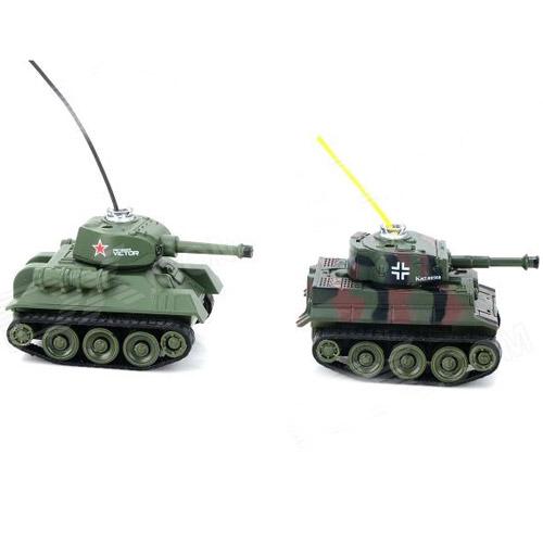 Радиоуправляемый Микро танковый бой 1:72 (2 танка по 6 см) - В интернет-магазине
