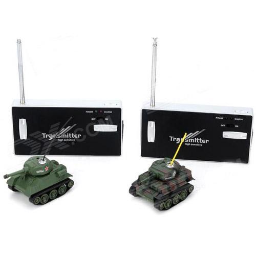 Радиоуправляемый Микро танковый бой 1:72 (2 танка по 6 см) - Фото
