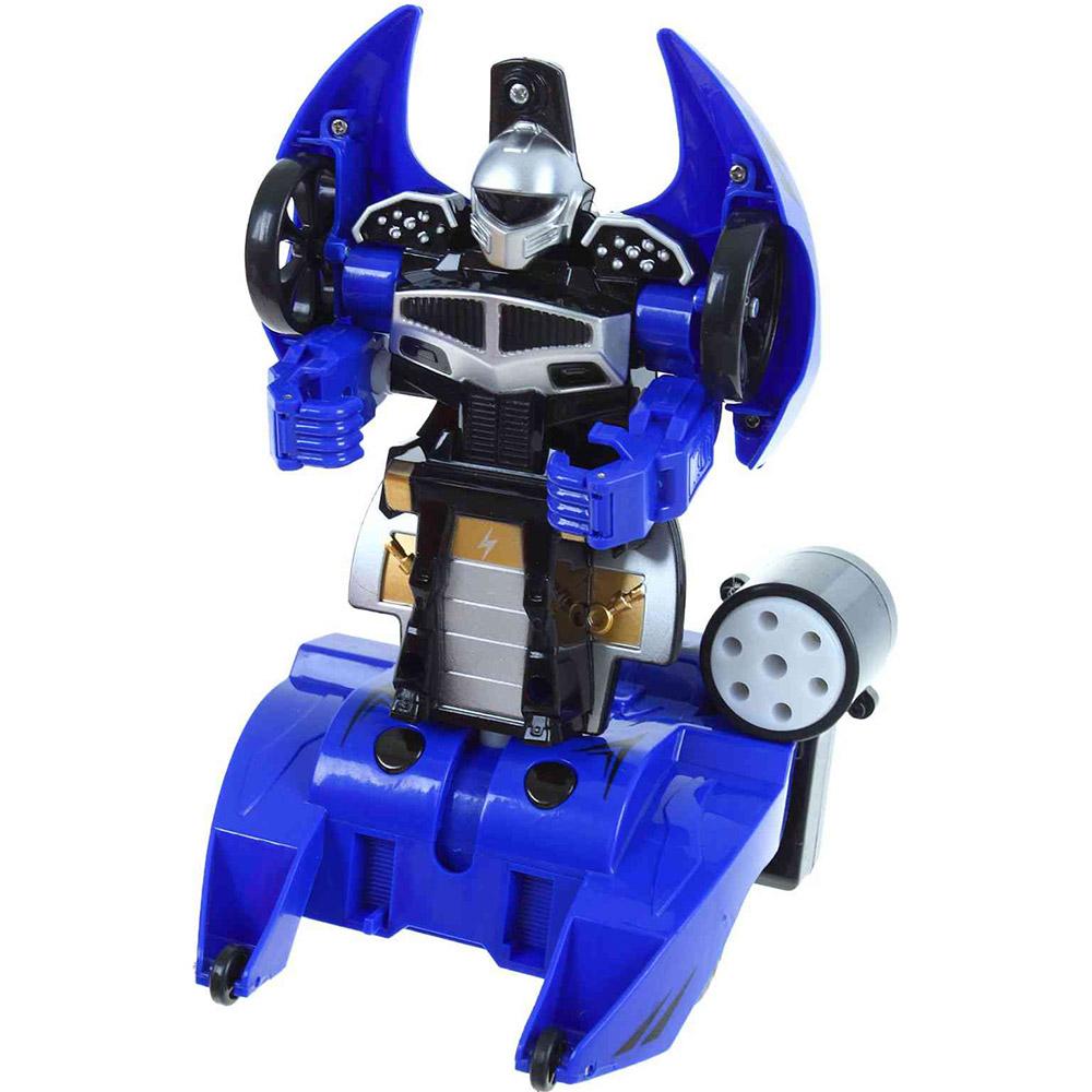 Синий Радиоуправляемый боевой стреляющий трансформер (16 см.)