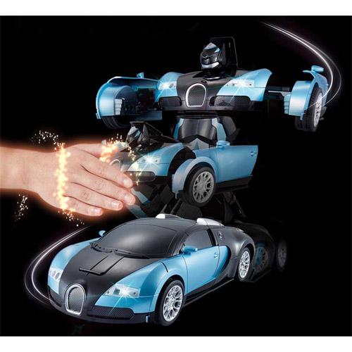 Радиоуправляемый трансформер Bugatti (супер надежность, реагирует на жесты) - Фото