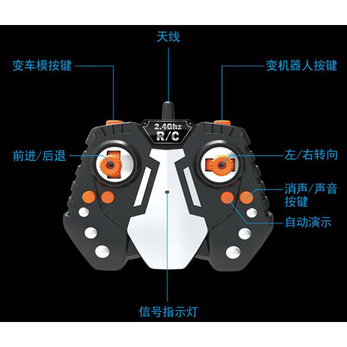 Радиоуправляемый трансформер Bugatti (супер надежность, реагирует на жесты) - Изображение
