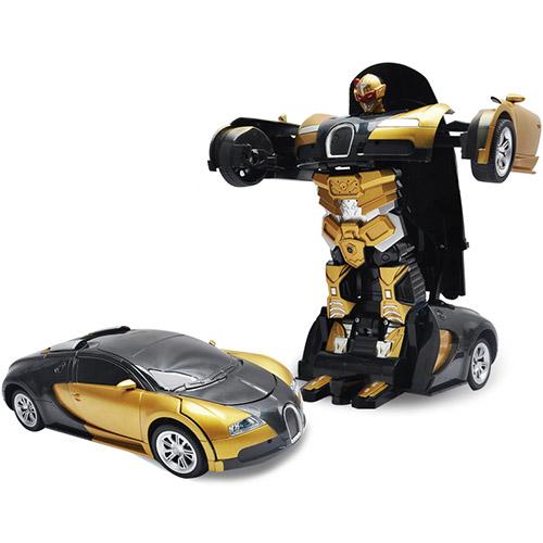 Радиоуправляемый трансформер-машинка Bugatti (29 см.)