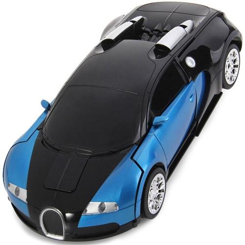 Радиоуправляемый Спорткар-трансформер Bugatti Veyron (25 см) - Фото
