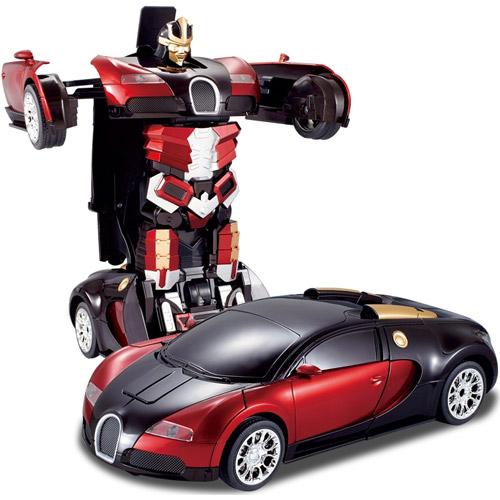 Красный Радиоуправляемый Спорткар-трансформер Bugatti Veyron (25 см)