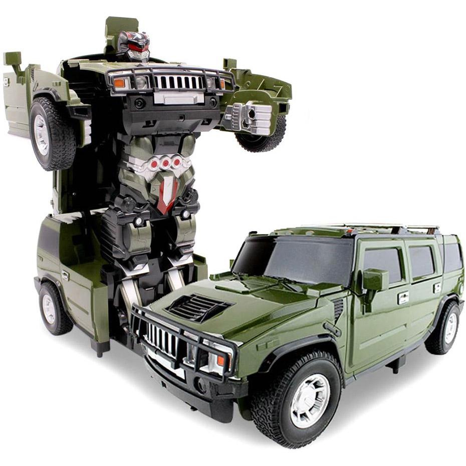 Зеленый Радиоуправляемый трансформер Hummer H2 (1:14, 35 см)