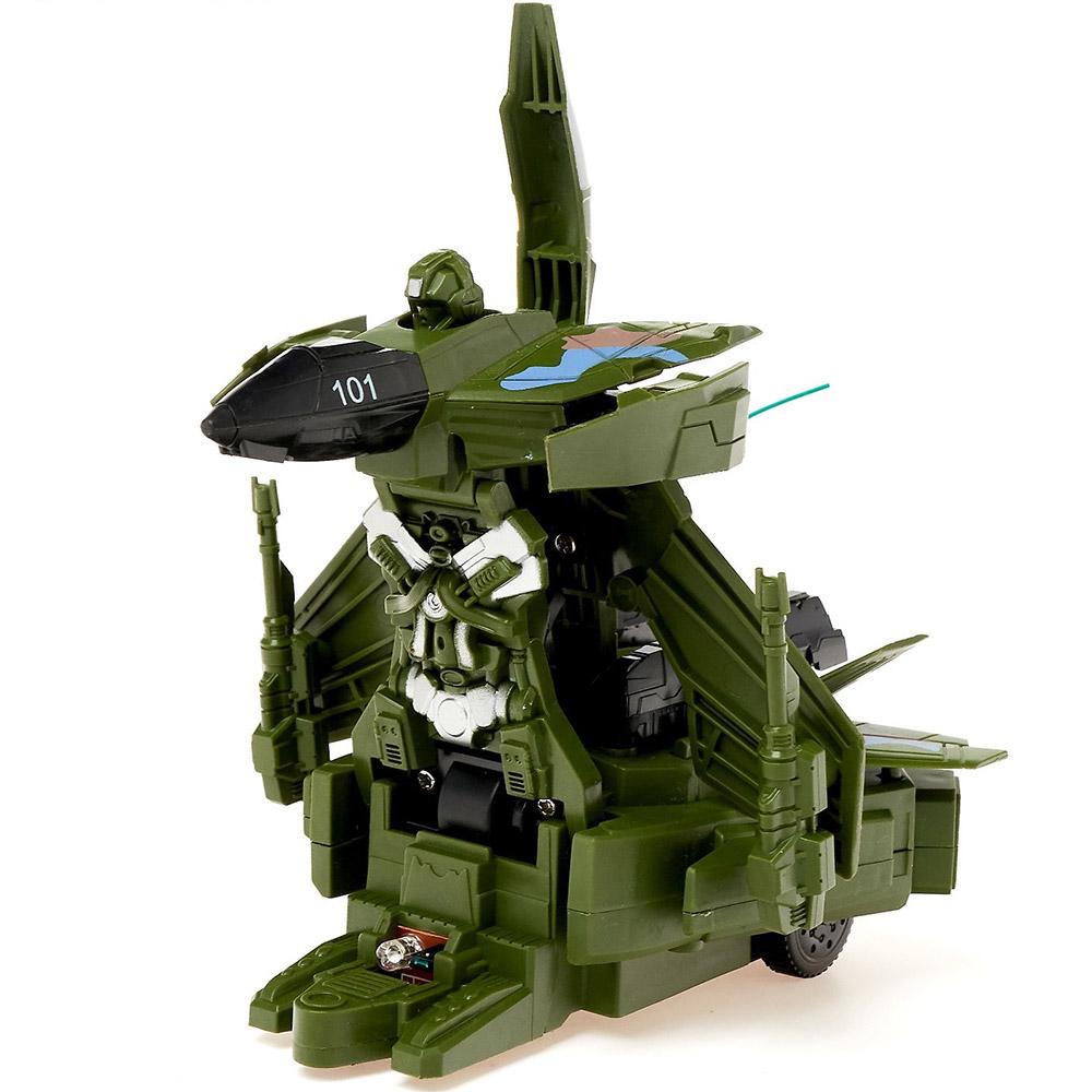 Зеленый Радиоуправляемый Истребитель-трансформер (18 см)