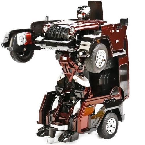 Бордовый Радиоуправляемый Трансформер Jeep (27 см, 2.4 GHz)