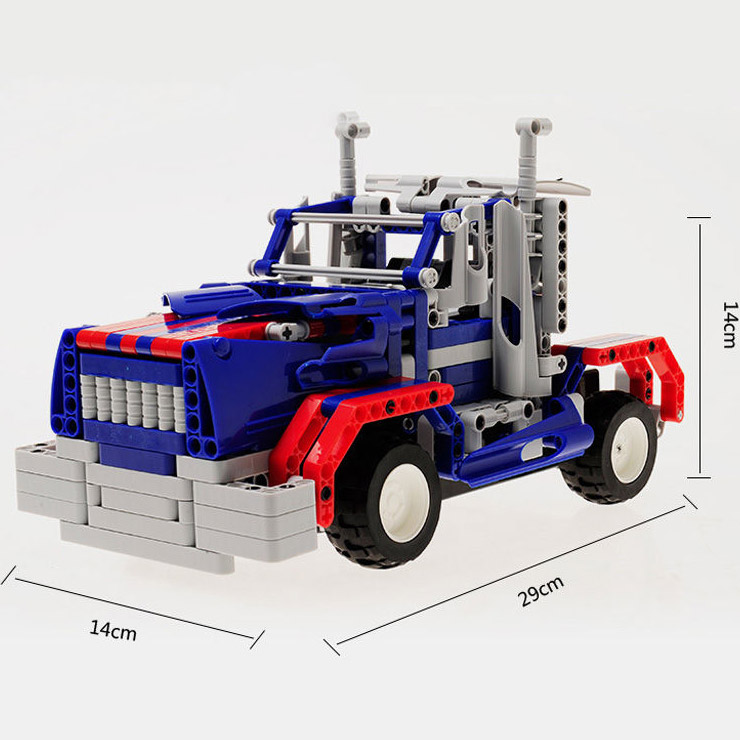 Радиоуправляемый Конструктор трансформер Оптимус Прайм (455 деталей, 29 см.)