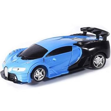 Синий Радиоуправляемая машинка-трансформер 1:18 Bugatti (23 см)