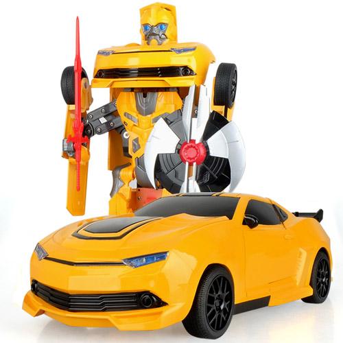 Радиоуправляемая машинка-трансформер 1:20 Chevrolet Camaro Bumblebee с мечом