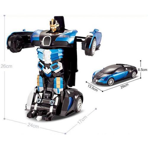 Радиоуправляемый Спорткар-трансформер Bugatti Veyron (25 см) - Изображение