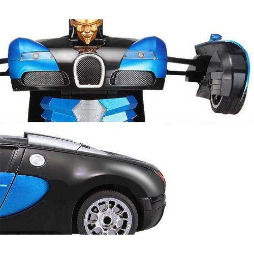 Радиоуправляемый Спорткар-трансформер Bugatti Veyron (25 см) - Картинка