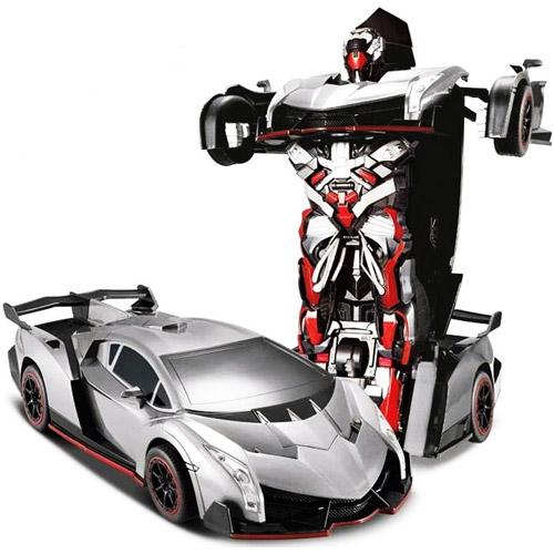 Серый Радиоуправляемый Спорткар-трансформер Lamborghini (25 см)