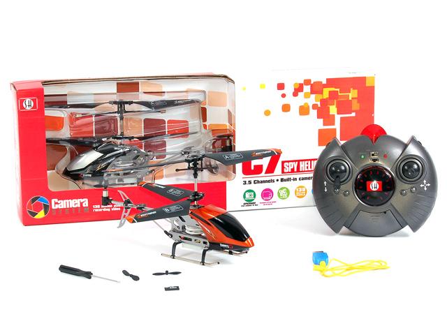 Вертолет на пульте управления с камерой C7 и картой памяти на 1Gb - В интернет-магазине