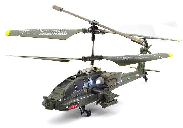Радиоуправляемый Вертолет Syma S109 Apache AH-64 (22 см)
