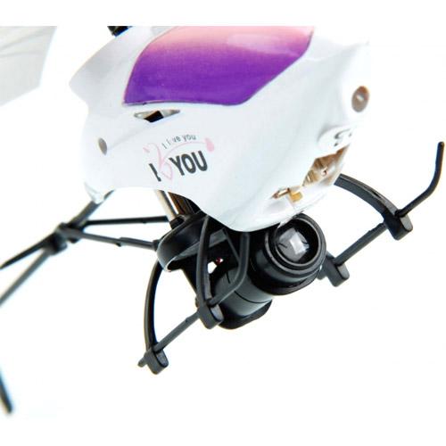Радиоуправляемый Любовный вертолет с проектором I Love You (20 см)