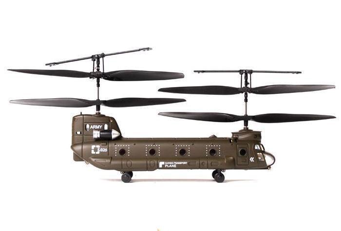 Радиоуправляемый Вертолет Syma S026 Chinook CH-47 (19 см) - Картинка