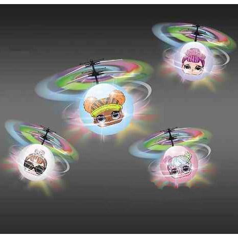 Летающий шар Кукла LOL (15 cм, управление от руки)