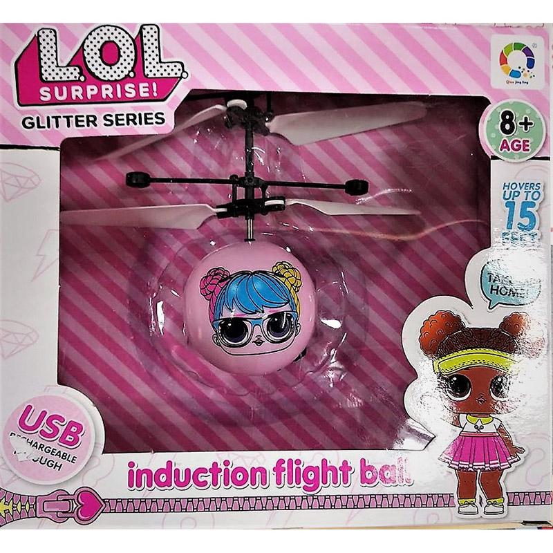 Летающий шар Кукла LOL (15 cм, управление от руки) - Картинка