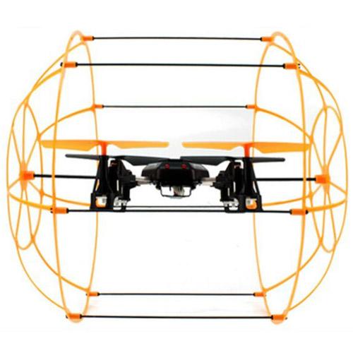 Радиоуправляемый Квадрокоптер в сфере из сетки (2.4Ghz, 22 см) - Фото