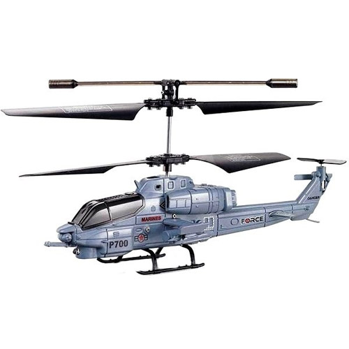 Радиоуправляемый Военный вертолет P700 (20 см)