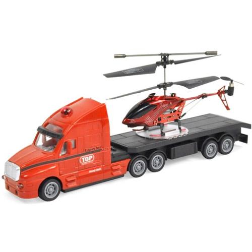 Набор радиоуправляемые тягач и вертолет (34 см.) - Картинка