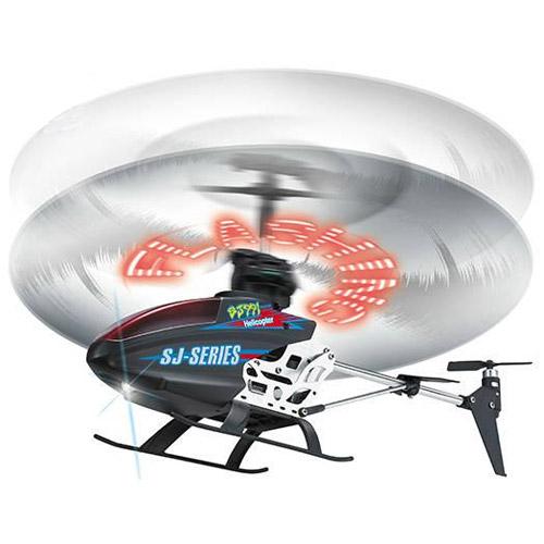 Радиоуправляемый Вертолет (выводит любую надпись на вращающиеся лопасти, 25 см)