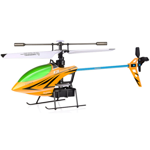 Желтый Одновинтовой Радиоуправляемый вертолет Syma F3 (24 см, 2.4Ghz)