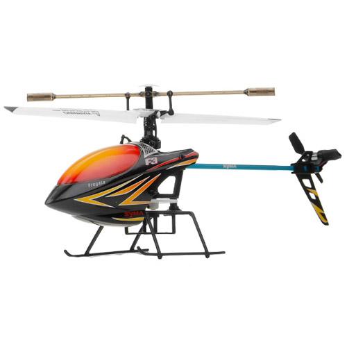 Черный Одновинтовой Радиоуправляемый вертолет Syma F3 (24 см, 2.4Ghz)