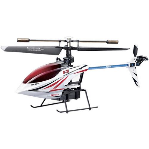 Белый Одновинтовой Радиоуправляемый вертолет Syma F3 (24 см, 2.4Ghz)