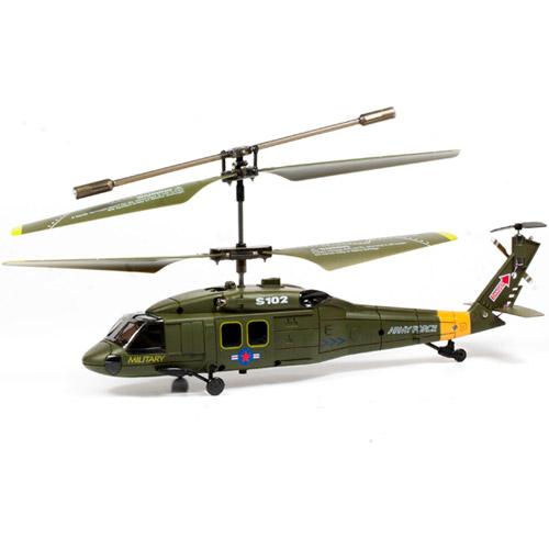 Военный радиоуправляемый Вертолет Syma S102 UH-60 Black Hawk (15 см)