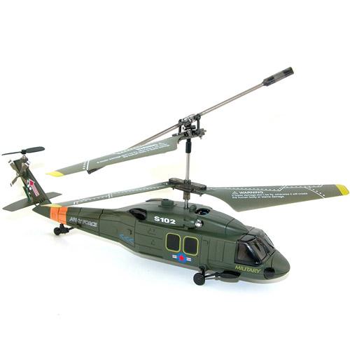 Военный радиоуправляемый Вертолет Syma S102 UH-60 Black Hawk (15 см) - Фото