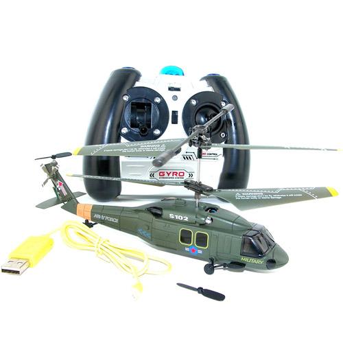 Военный радиоуправляемый Вертолет Syma S102 UH-60 Black Hawk (15 см) - Фотография