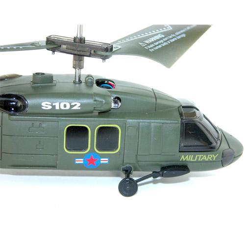 Военный радиоуправляемый Вертолет Syma S102 UH-60 Black Hawk (15 см) - Картинка