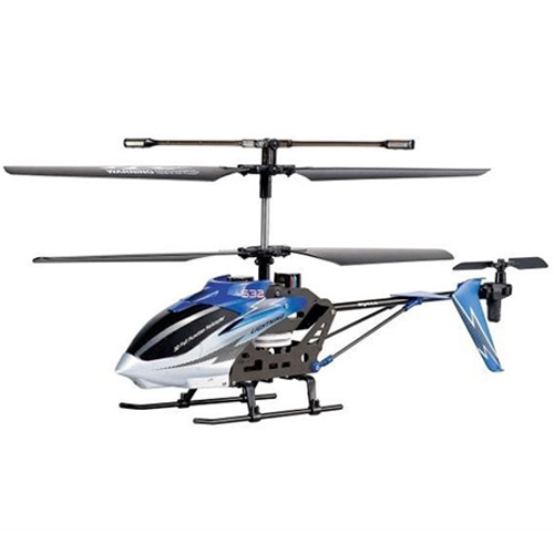 Белый с синим Радиоуправляемый Вертолет Syma S39 / S10 (S032, 32 см, 2.4Ghz)