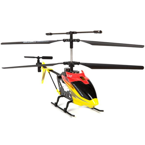 Желтый с красным Радиоуправляемый Вертолет Syma S39 / S10 (S032, 32 см, 2.4Ghz)