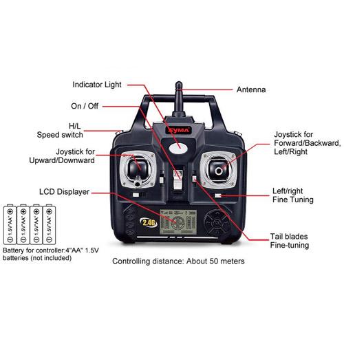 Радиоуправляемый Вертолет Syma S33 (77 см, 2.4Ghz) - Изображение