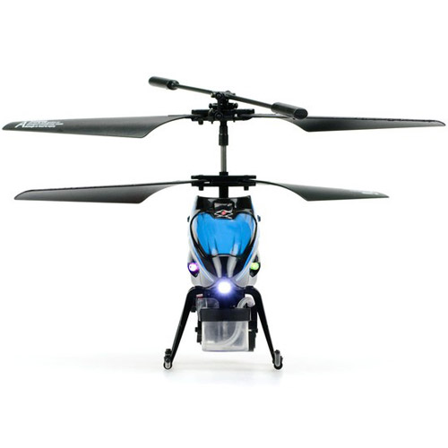Синий Радиоуправляемый вертолет пускающий мыльные пузыри (19.5 см)
