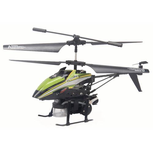 Зеленый Радиоуправляемый вертолет пускающий мыльные пузыри (19.5 см)