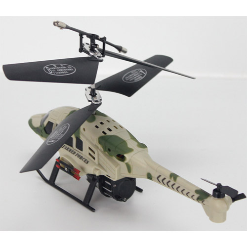 Радиоуправляемый Вертолет стреляющий ракетами s004 (22 см.) - Картинка