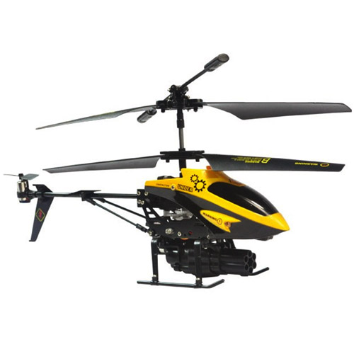 Желтый Радиоуправляемый вертолет стреляющий ракетами (21 см)
