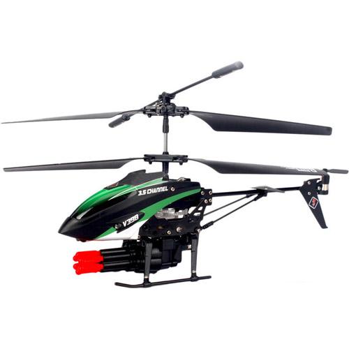 Зеленый Радиоуправляемый вертолет стреляющий ракетами (21 см)