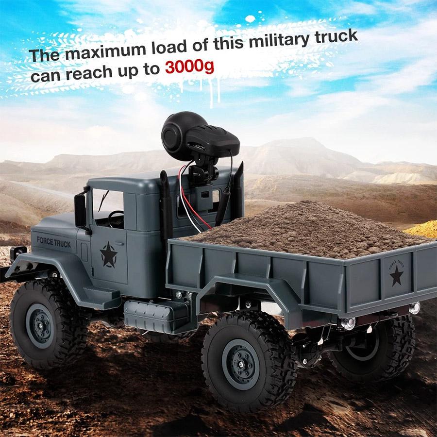Радиоуправляемый Военный Грузовик (4x4, 1:16, 34 см.) - Фотография